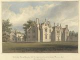 North East View of Trevalyn Hall, Denbighshire; the property of George Boscawen Esqre. Built by Sir G Trevor 1576.