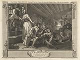 The Idle 'Prentice Betrayed by his Whore and Taken in a Night Cellar with his Accomplice