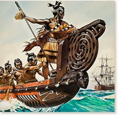 Natives and Captain Cook by Angus McBride