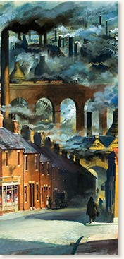 Factory chimneys by Andrew Howat