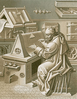 Jean Mielot in the scriptorium